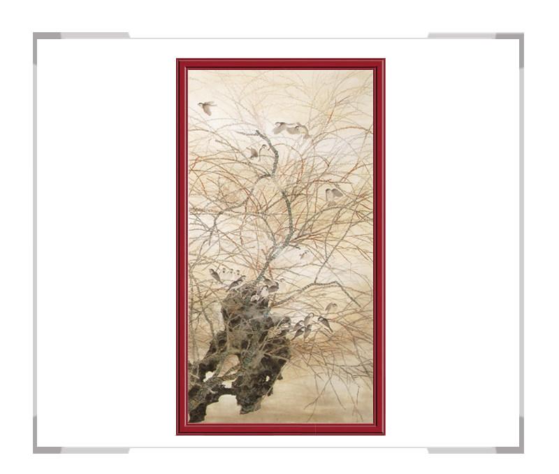 中国美协会员刘晓东老师-花鸟竖幅第一款