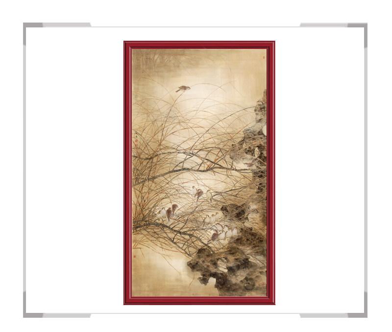 中国美协会员刘晓东老师-花鸟竖幅第二款