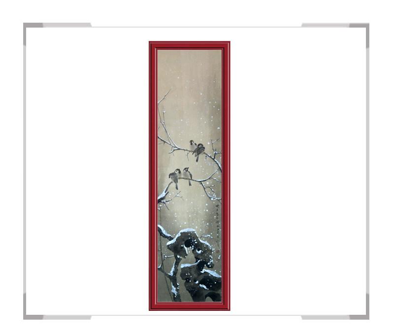 中国美协会员画家刘晓东花鸟竖幅作品第一款