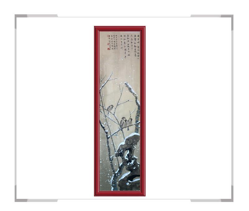 中国美协会员画家刘晓东花鸟竖幅作品第二款