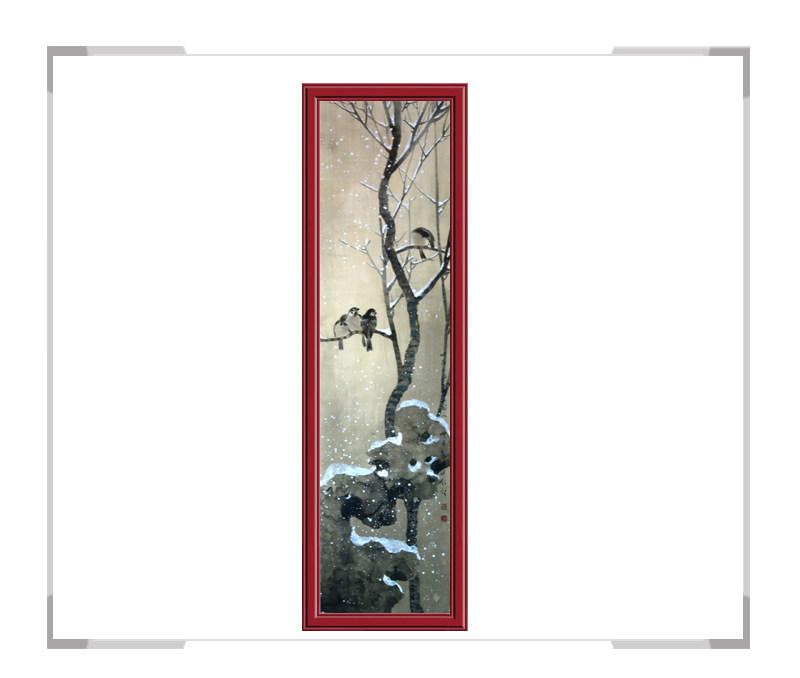 中国美术家协会刘晓东会员-花鸟竖幅作品第一款