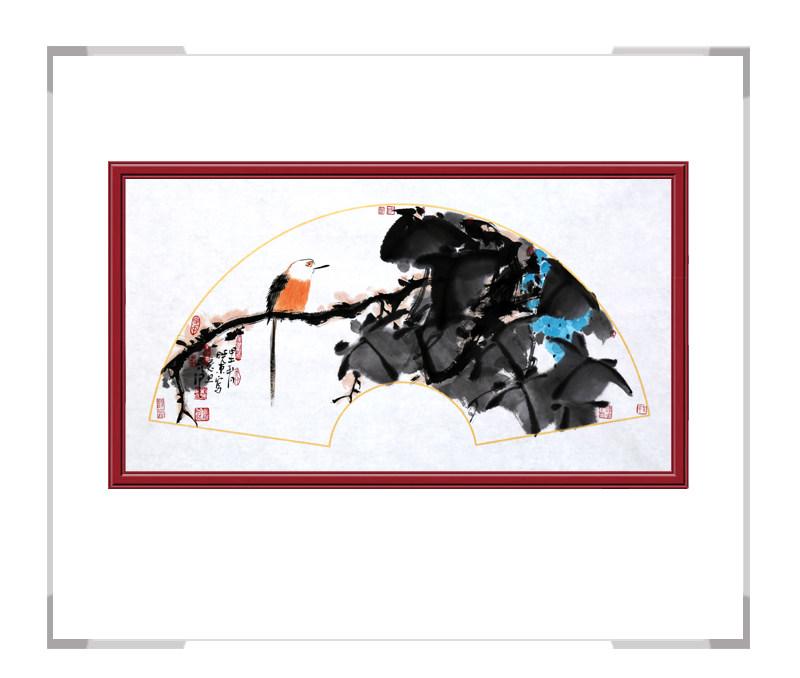 中国美术家协会会员艺术家刘晓东-花鸟横幅第一款