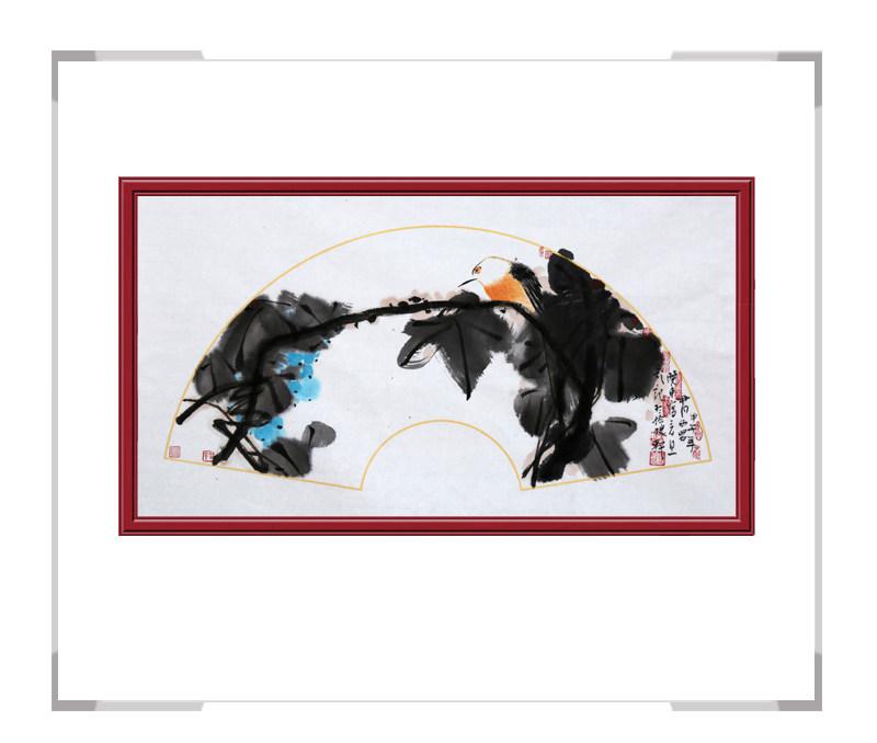 中国美术家协会会员艺术家刘晓东-花鸟横幅第二款