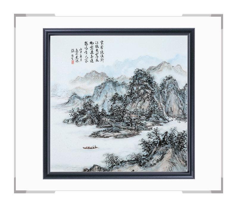 瓷板画-陈长生作品176【大国工匠 瓷艺东方】