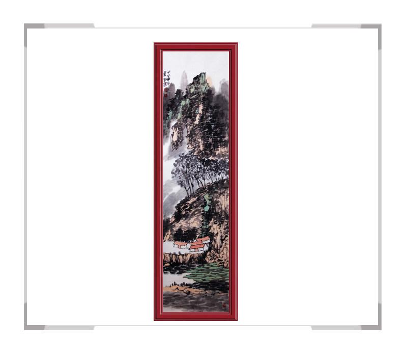 当代书画家刘云作品-竖幅山水第一款