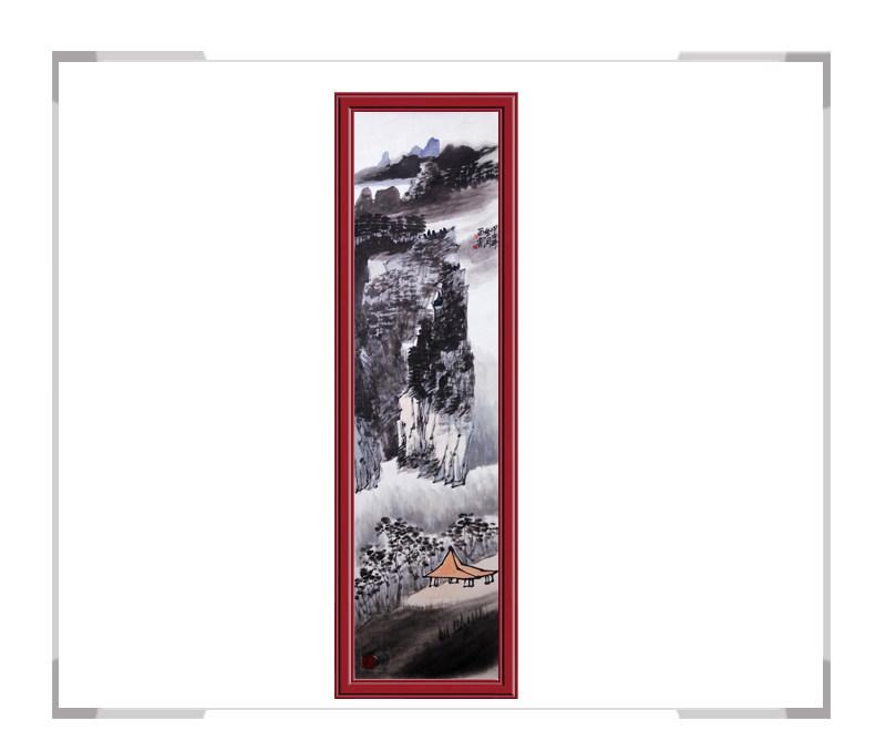 当代书画家刘云作品-竖幅山水第二款