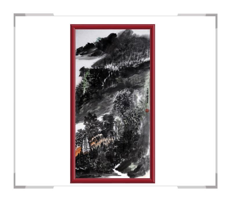 当代艺术家刘云作品-山水画竖幅