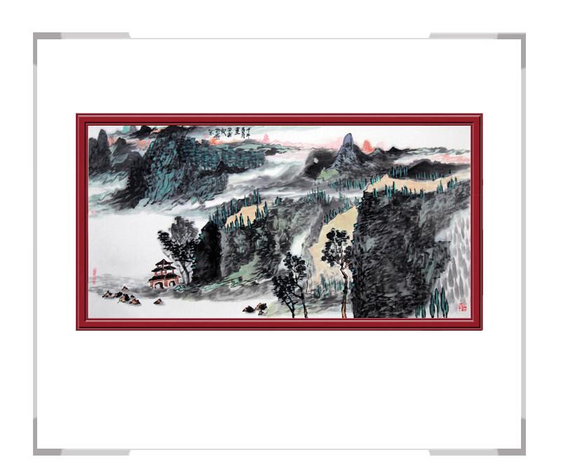 当代艺术家刘云-横幅山水作品