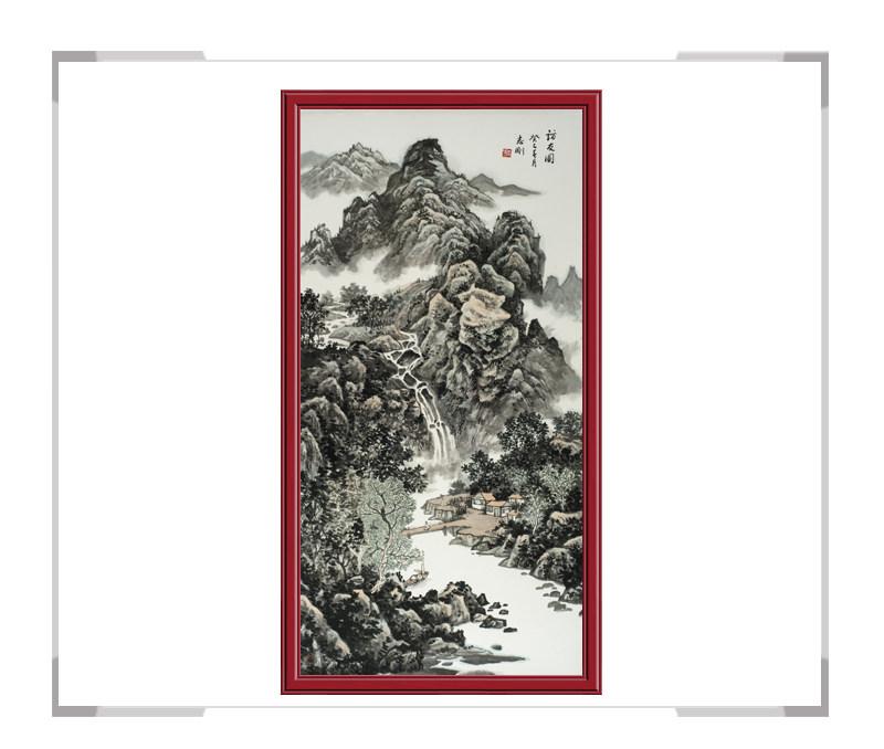 中国美术家协会会员刘志刚-山水画竖幅第二款