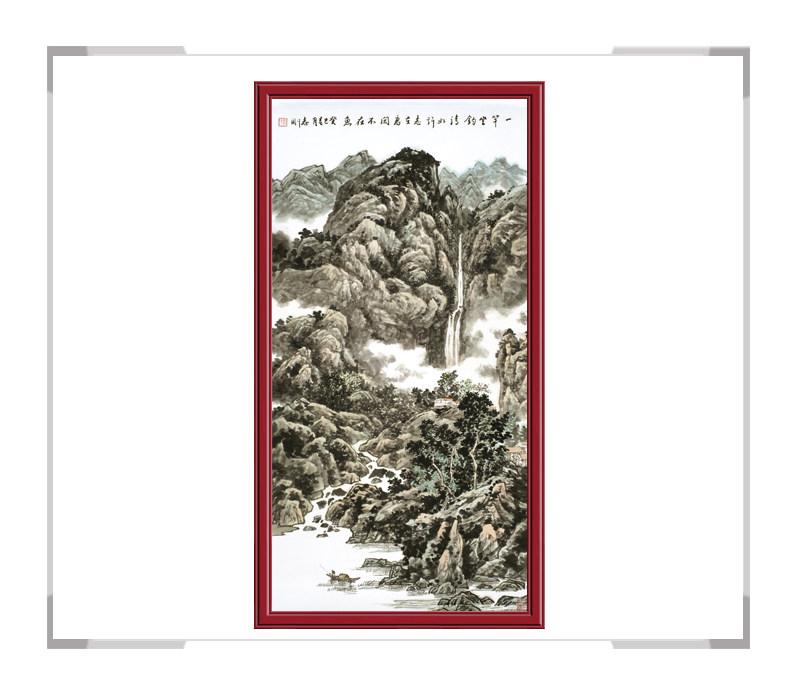 中国美术家协会会员刘志刚作品-竖幅山水画