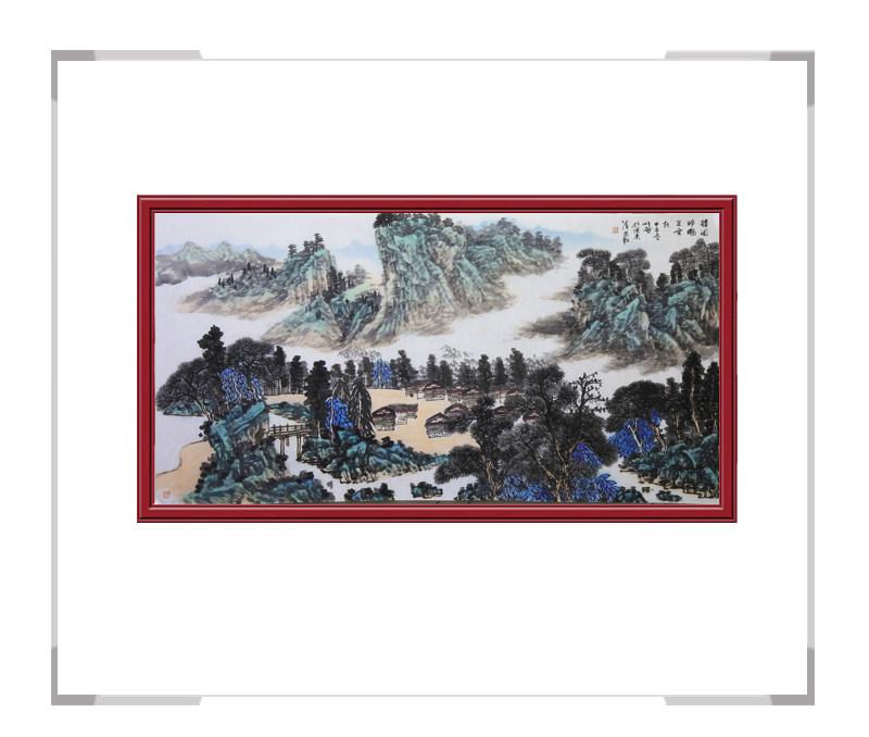 中国美术家协会会员柳芳金-横幅山水作品其一