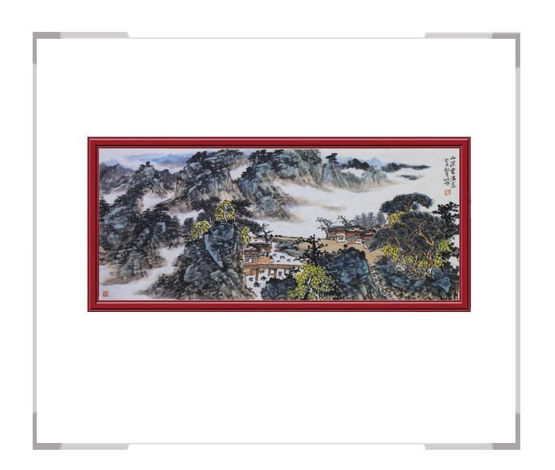 中国美术家协会会员柳芳金-横幅山水作品其二