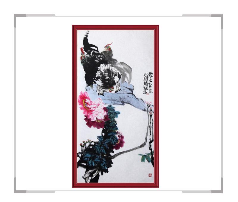 当代艺术家吕冰-竖幅花鸟作品其一