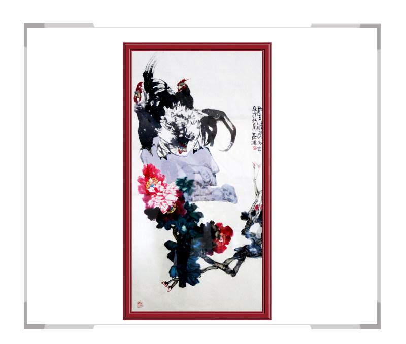 当代艺术家吕冰-竖幅花鸟作品其二