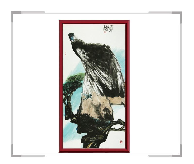 当代艺术家吕冰老师-花鸟画竖幅第一款
