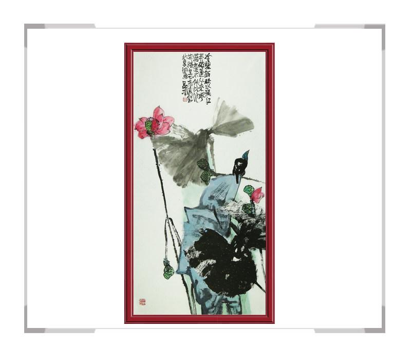 当代艺术家吕冰老师-花鸟画竖幅第二款