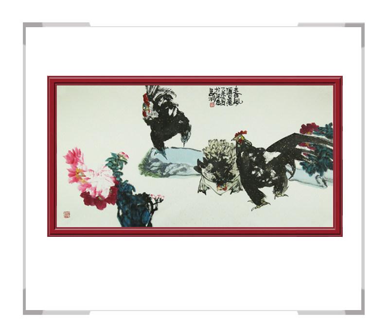 当代书画家吕冰-横幅花鸟画第一款