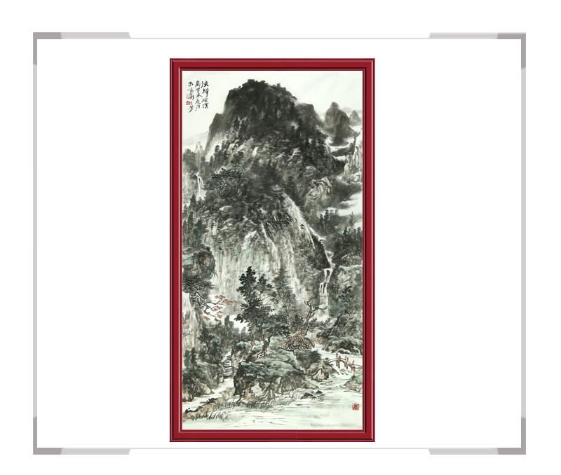 中国美术家协会会员牟丕芳-竖幅水墨山水第一款