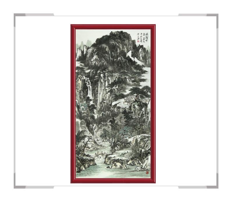 中国美术家协会会员牟丕芳-竖幅水墨山水第二款