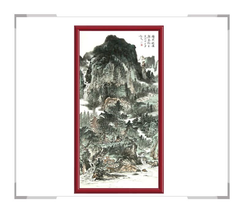 中国美协会员牟丕芳老师作品-水墨竖幅山水其二