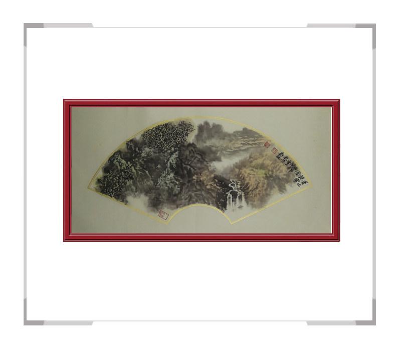 中国美协会员牧青作品-山水扇面作品二