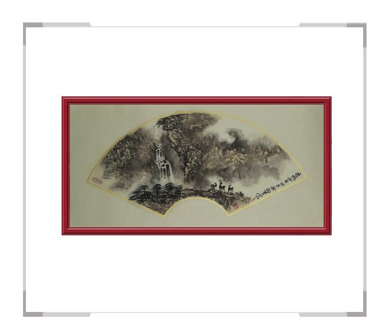 中国美术家协会会员牧青-山水扇面作品第二款