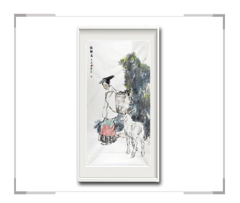 中国美术家协会会员穆晋国-竖幅古典人物画第一款