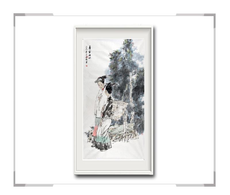 中国美术家协会会员穆晋国-竖幅古典人物画第二款