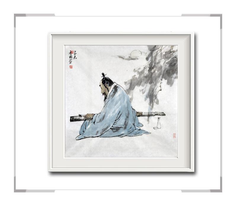 中国美术家协会会员穆晋国-斗方人物画之无题