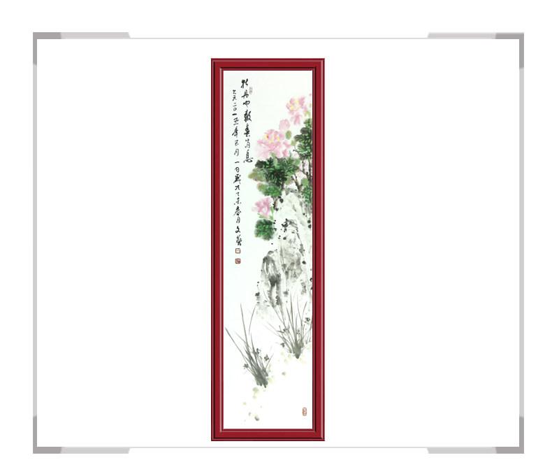 中国美协会员戚文艺-竖幅花鸟画第一款牡丹