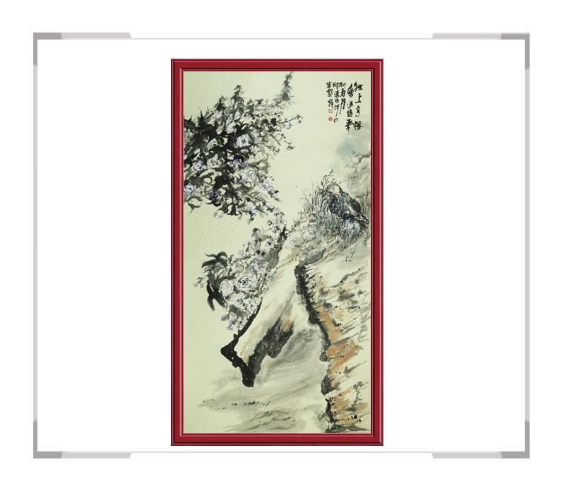 中国美术家协会清水河作品-竖幅风景画第一款