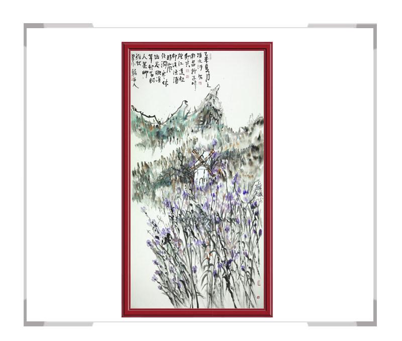 中国美术家协会清水河作品-竖幅风景画第二款