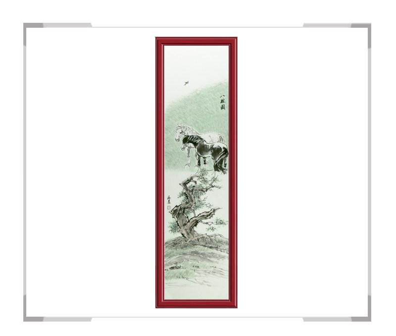 中国美术家协会会员孙海晨-竖幅动物作品马款式一