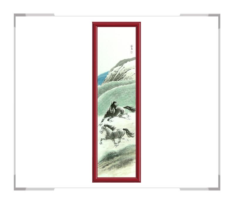 中国美术家协会会员孙海晨-竖幅动物作品马款式二