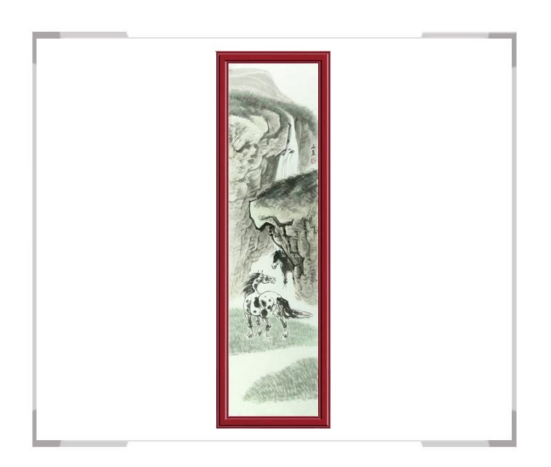 中国美协会员画家孙海晨作品-马主题竖幅第一款