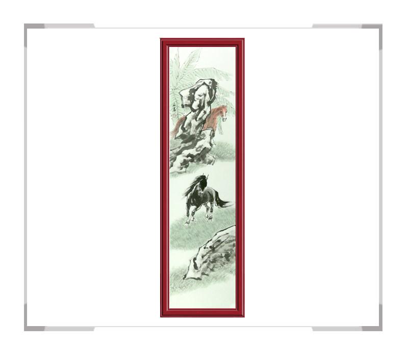 中国美协会员画家孙海晨作品-马主题竖幅第二款