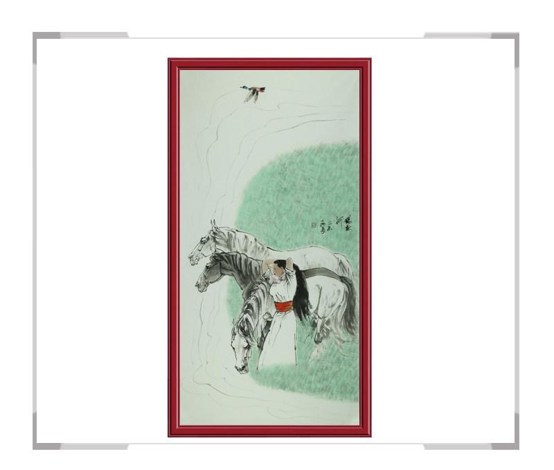 中国美术家协会会员孙海晨老师作品-草原竖幅第一款