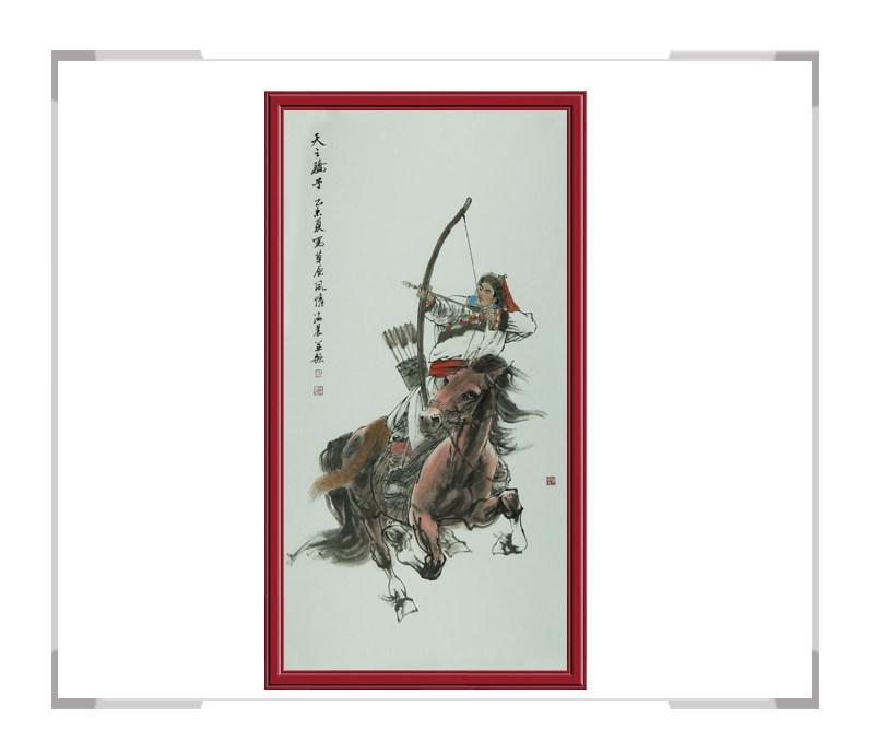 中国美术家协会会员孙海晨老师作品-草原竖幅第二款