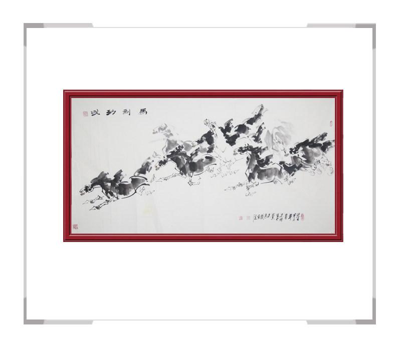 中国美术家协会会员田成义-奔马主题横幅作品一