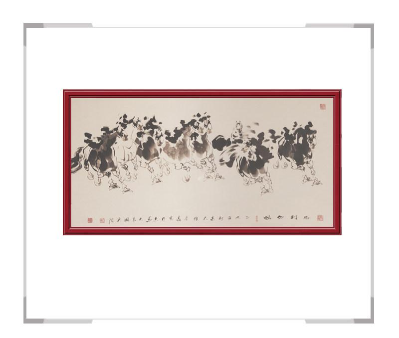 中国美术家协会会员田成义-奔马主题横幅作品二