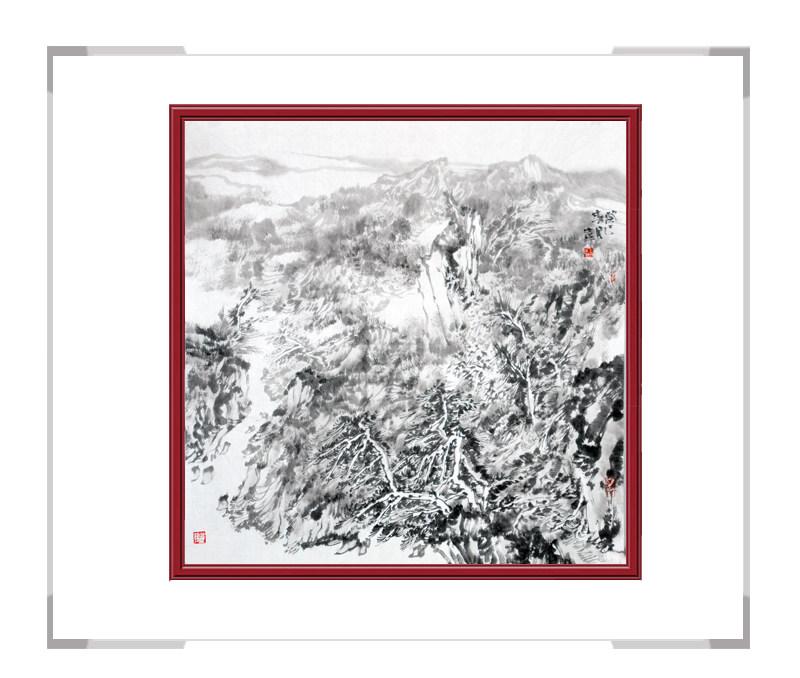 中国美术家协会会员王士生-山水画斗方作品一