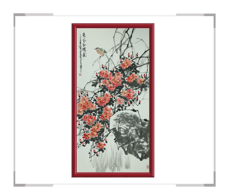 中国美术家协会会员吴泉棠作品-竖幅花鸟画第一款