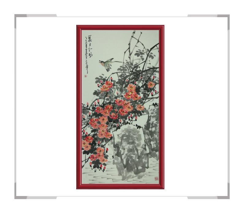 中国美术家协会会员吴泉棠作品-竖幅花鸟画第二款