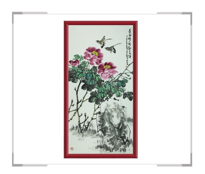 中国美术家协会会员吴泉棠老师-竖幅花鸟作品一