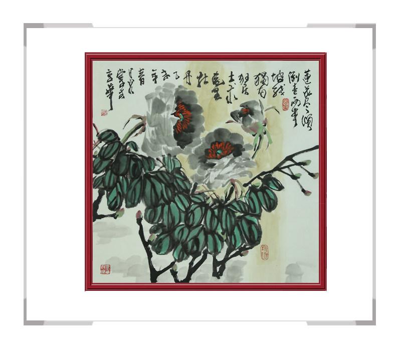 中国美术家协会会员吴泉棠作品-斗方花鸟第一款