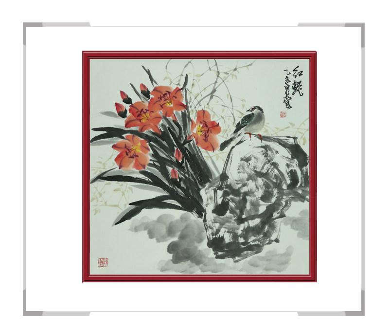 中国美术家协会会员吴泉棠作品-斗方花鸟第二款