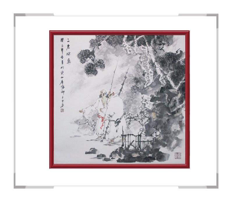 中国美术家协会会员王巨亭先生-斗方人物画作品一