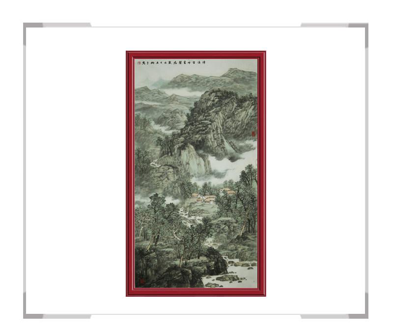 中国美术家协会会员夏佩珊作品-竖幅山水画第一款