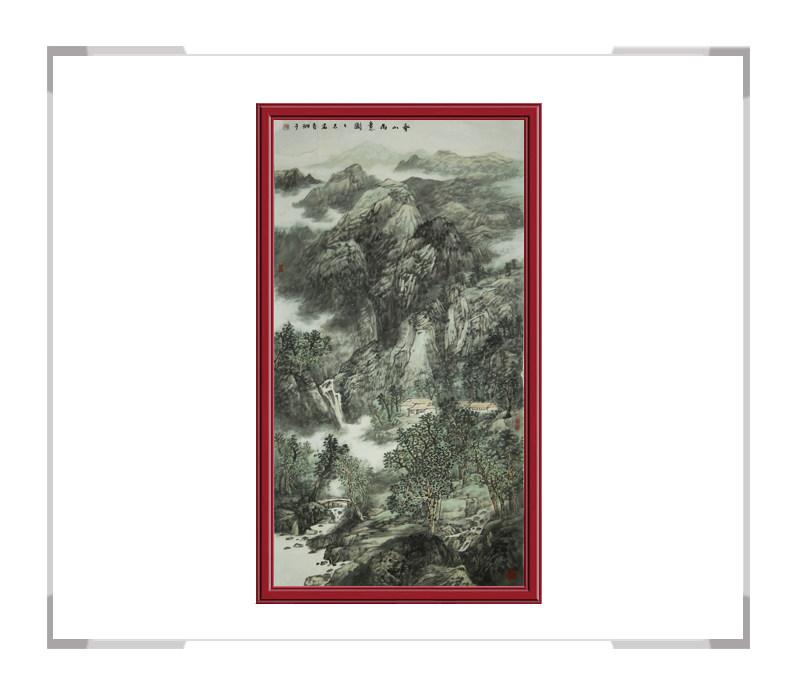 中国美术家协会会员夏佩珊作品-竖幅山水画第二款