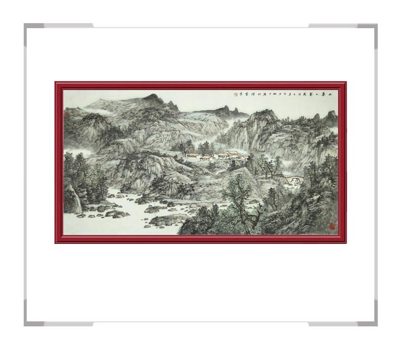 中国美术家协会会员夏佩珊-横幅山水作品